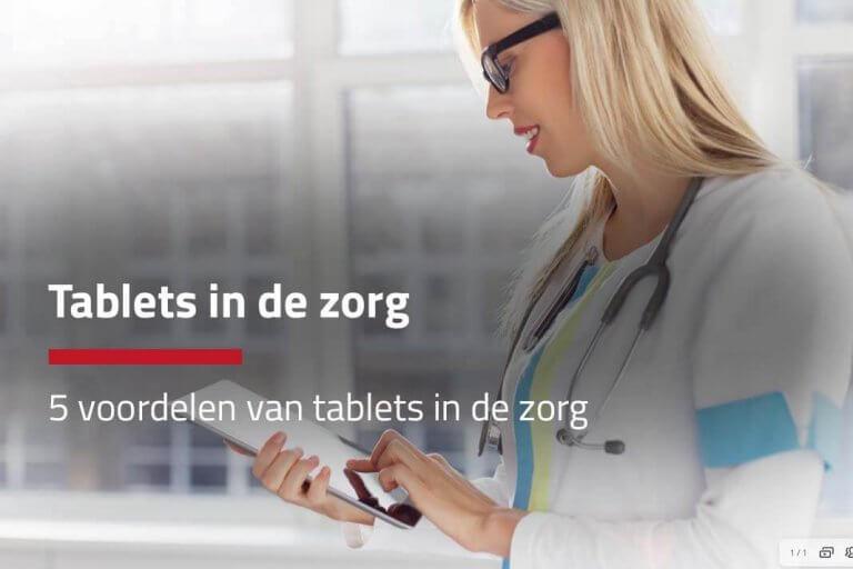 tablets in de zorg